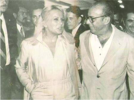 Myrian Abicair e o então presidente Figueiredo: romance teve início depois de encontro em festa.