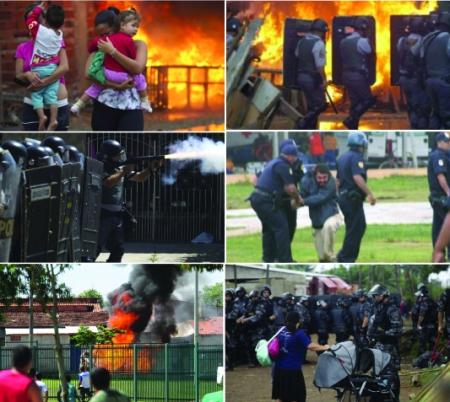 Os moradores do Pinheirinho viveram um dia de guerra proporcionado pela PM de São Paulo.