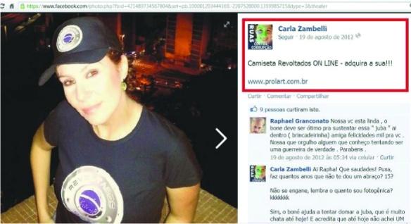 Resultado de imagem para Carla Zambelli  Revoltados On Line