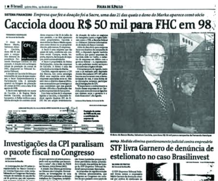 Folha de São Paulo de 29/4/1999.
