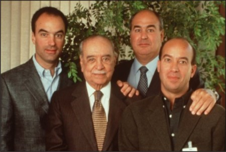 Roberto Marinho e os filhos.