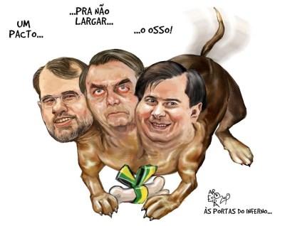 Resultado de imagem para Bolsonaro e Toffoli - charges